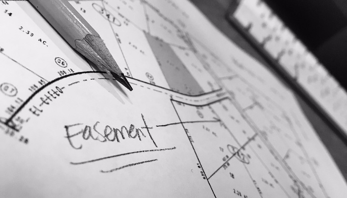 What is a property easement?